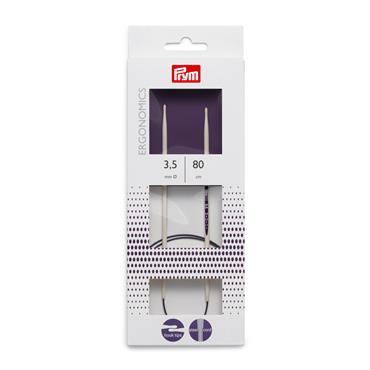 Prym Ergonomic Design Circular Knitting Needles, 80cm Long, 3mm-10mm