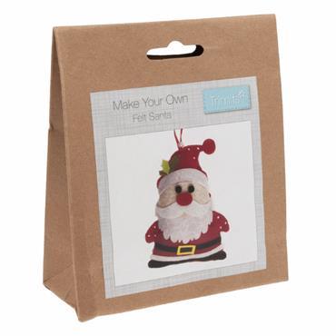 Groves - Felt Santa Decoration Kit