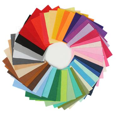 Craft Factory Acrylic Felt Multipack  30cm x 23cm 10 assorted colour pack
