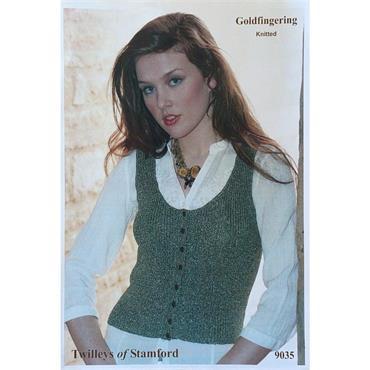 Goldfingering Gold Rush #9035 Knitted Waistcoat in Goldfingering Gold Rush