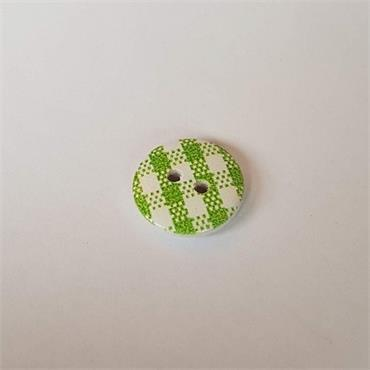 Chequered Craft Button Collection - 15mm
