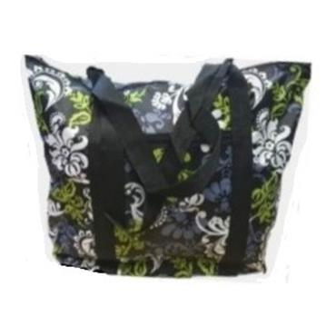 Knitting Bag - Green Floral