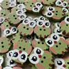 Owl Buttons - 20mm (Green)