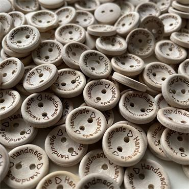 1 x Handmade with Love Button - 15mm