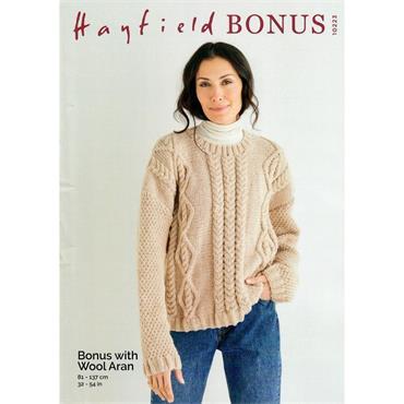 Pattern #10223 Sweater Knitted in Wool Aran ***