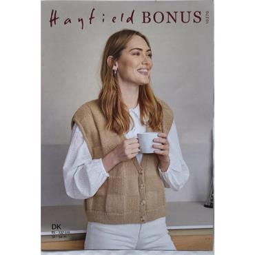 Hayfield Bonus Pattern #10270 Waistcoat in Bonus DK