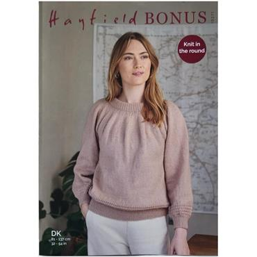 Hayfield Bonus DK Pattern #10271 Sweater knit in the round