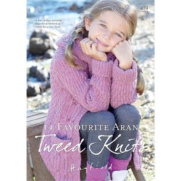 Hayfield Book #479 (B) 14 Favourite Aran Tweed Knits