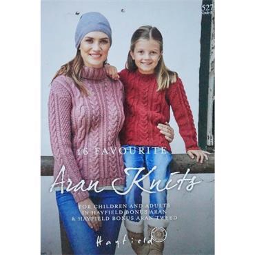 Hayfield Book #527 - 16 Favourite Aran Knits