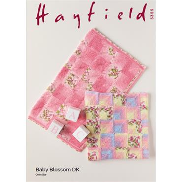 Pattern #5355 Blankets in Baby Blossom DK