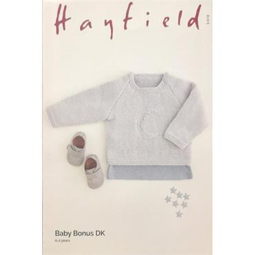 Hayfield Pattern #5418 Top in Baby Bonus DK