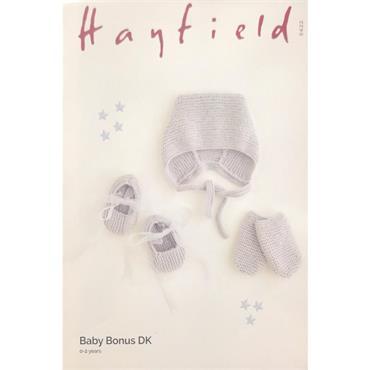 Hayfield Pattern #5422 Hat, Shoes & Mittens in Baby Bonus DK