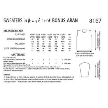 Hayfield #8167 Sweaters in Bonus Aran