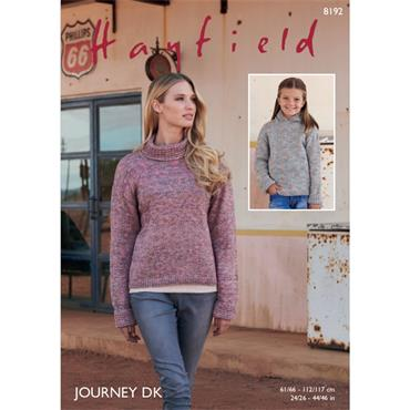 Hayfield #8192 Sweaters in Journey DK