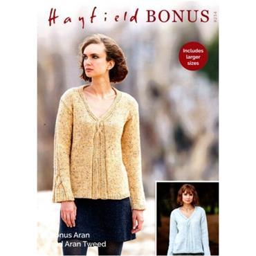 Hayfield Pattern #8234 Sweater in Bonus Aran Tweed