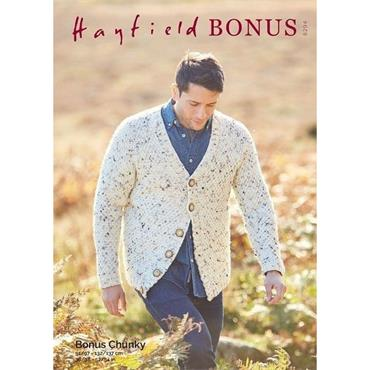 Hayfield Bonus Pattern #8294 Man's Cardigan in Bonus Chunky