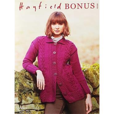 Hayfield Pattern #10081 Aran Jacket