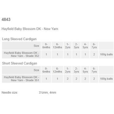 Hayfield Pattern #4843 Cardigans in Blossom DK