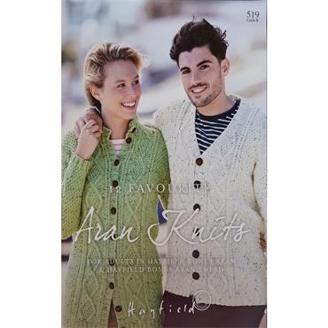 Hayfield Book (B) #519 - 12 Favourite Aran Knits