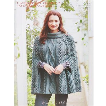 Hayfield Pattern #7372 Knitted Aran Cape