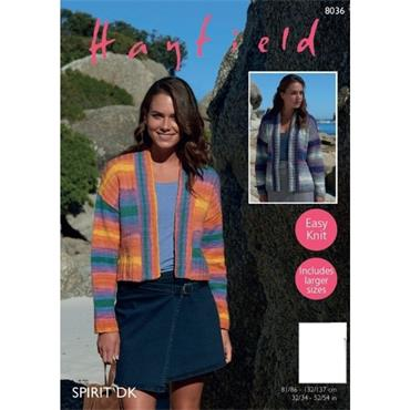 Hayfield Pattern #8036 Jackets in Spirit DK