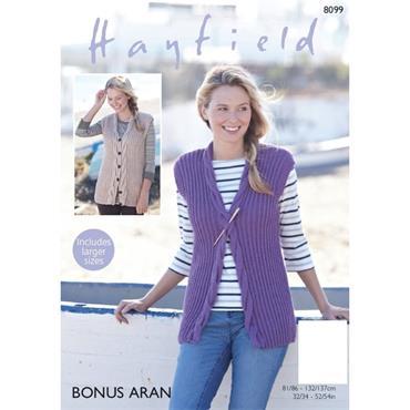 Hayfield Pattern #8099 Aran Waistcoats
