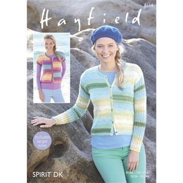 Hayfield Pattern #8114 Cardigans in Spirit DK