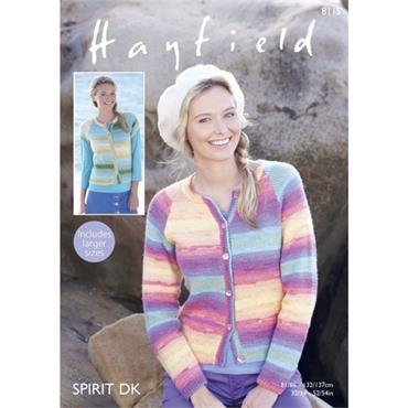 Hayfield Pattern #8115 Cardigans in Spirit DK