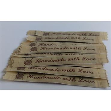 4 x Handmade With Love Labels