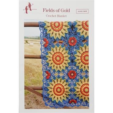 Janie Crow - Fields of Gold Crochet Blanket Pattern Booklet   ***