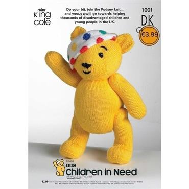 King Cole #1001 Pudsey Bear for Children in Need