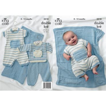 King Cole Pattern #3318 Little Boy Blue in Bamboo Cotton