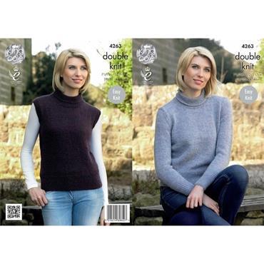 King Cole #4263 Sweater & Slipover DK
