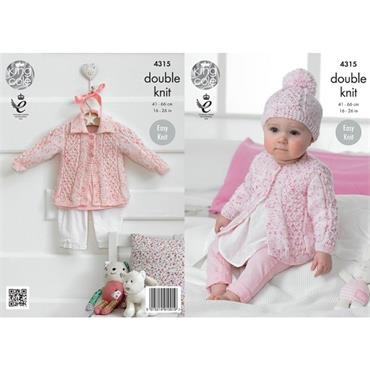 King Cole Pattern #4315 Coats and Hat in Smarty DK