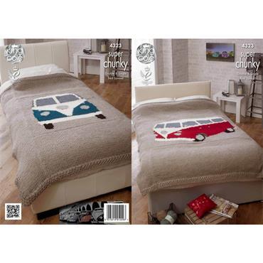 King Cole Pattern #4323 Camper Van Bed Throws