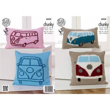 King Cole Pattern #4324 Camper Van Cushions