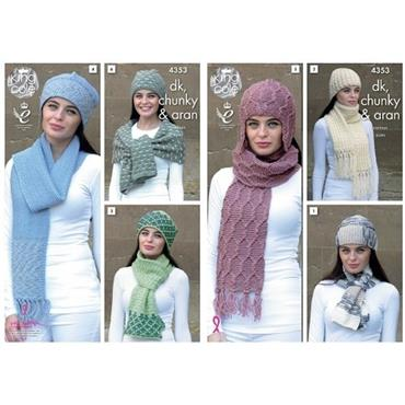 King Cole #4353 Accessories in DK, Chunky & Aran    ***