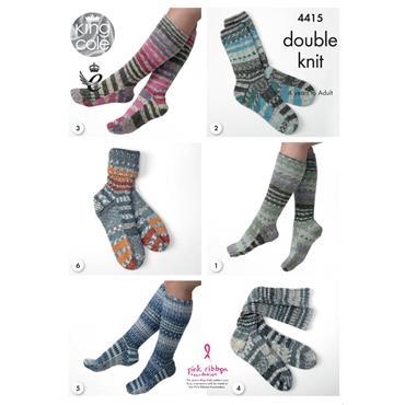 King Cole Pattern #4415 Socks in Drifter DK