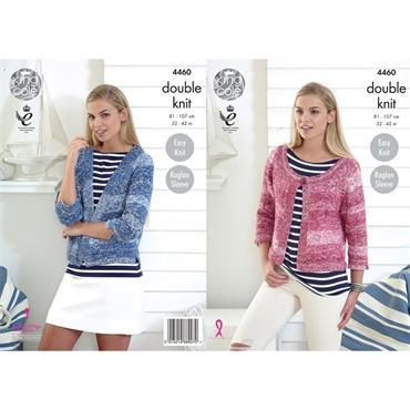 King Cole Pattern #4460 Vogue DK Ladies Cardigans