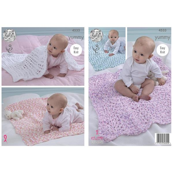 King Cole Pattern #4533 Yummy Blankets   Springwools.com ...
