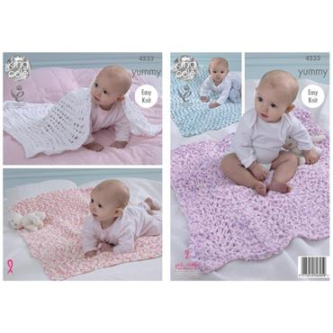King Cole Pattern #4533 Yummy Blankets