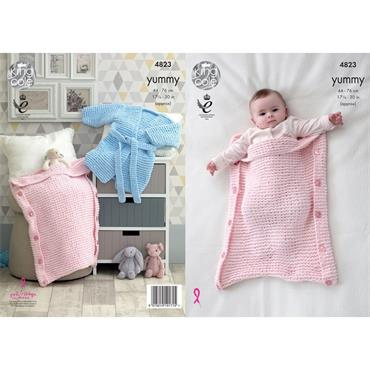 King Cole Pattern #4823 Robe & Sleeping Bag in Yummy