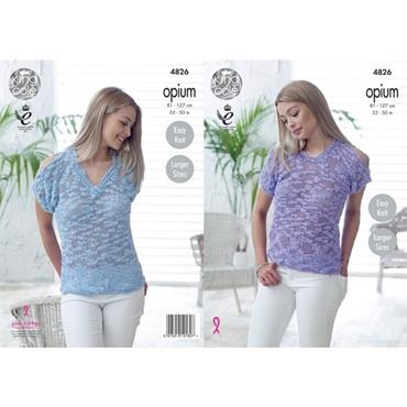 King Cole Pattern #4826 Tops in Opium