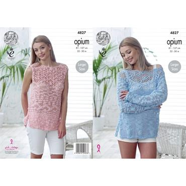 King Cole Pattern #4827 Sweater & Top in Opium