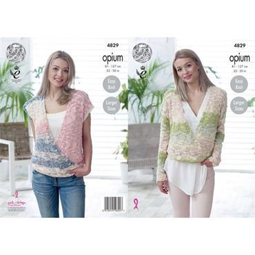 King Cole Pattern #4829 Sweater & Top in Opium Palette