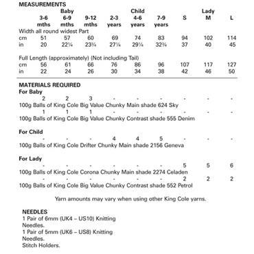 King Cole Pattern #4865 Mermaid Blankets in Chunky