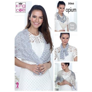King Cole Pattern #5066 Wraps & Scarf in Opium & Opium Palette