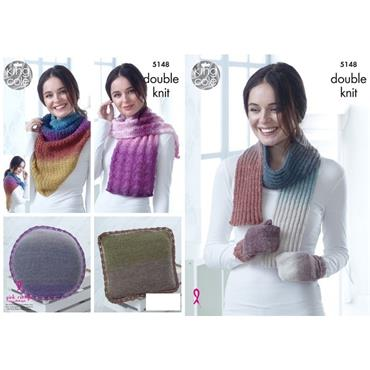 King Cole Pattern #5148 Accessories Knitted in Curiosity DK