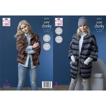 King Cole Pattern #5171 Jackets in Orbit Super Chunky