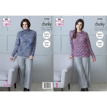 King Cole #5190 Sweaters in Shadow Chunky ***